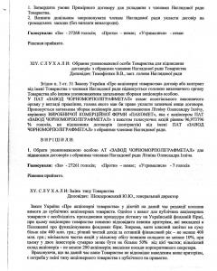 Протокол річних загальних зборів акціонерів